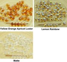 40pcs Crystal Czech Glass Small Teardrop Beads 4mm x 6mm
