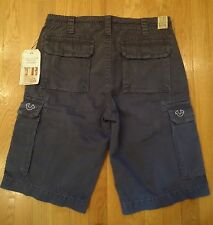 NWT TRUE RELIGION ISAAC CARGO SHORTS OVERDYE SR WASHED BLACK MENS 29 MSRP $168