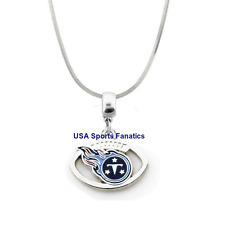 NFL Tennessee Titans Football Logo Pendant Necklace On A 925 Snake Chain