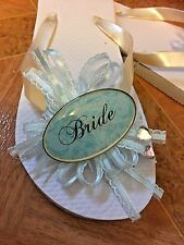 Bridal Flip Flops Each One of a Kind!! Get your Flippitie Flops by Charmblings!!