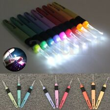 9pcs/3pcs 2.5mm~6.5mm Size LED Light Crochet Lite Hook Set Batteries Included