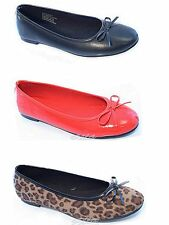 Ladies Ella Slip On Flat Dolly Ballet Pumps Ballerina Office Work School Shoes