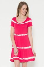 NWT~BOUTIQUE~HEART N HIPS~CORAL/RED~TIE DYE~TUNIC/DRESS~SMALL, MEDIUM, LARGE