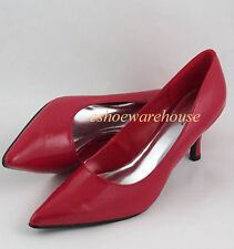 Red Patent Perfect Height Mid Heel Cutie Pointy Toe Pumps Shoes