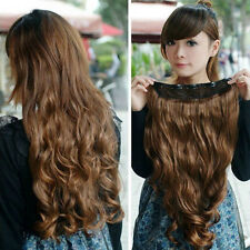 ne Piece long curl/curly/wavy hair extension clip-on