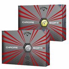 Callaway Golf 2017 Chrome Soft X Premium Dual SoftFast Core Mens Tour Golf Balls