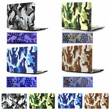 """Camouflage Hard Case + Keyboard Cover For Macbook Air Pro Retina 11"""" 12"""" 13"""" 15"""""""