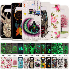 For Samsung Phones Silicone TPU Rubber Soft Skin Back Retro Luminous Case Cover