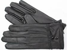 BLACK LAMBSKIN LEATHER WOMEN'S WINTER DRIVING EVERYDAY GLOVES BY TINDER L XL