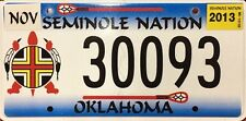 Oklahoma 'Seminole Nation' Indian Tribe License Plate (30093)