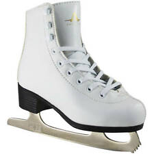 American Athletic Shoe Girls White Leather-Lined Ice Figure Skates Size 13 Youth