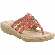 Earth Spirit US Shoes Size Women Sandal Casual Comfort New Coral Leather Suede