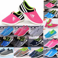 Womens Slip On Casual Shoes Sneakers Trainers Running Shoes Soprt Runners Pink