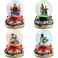 Colour Changing Snow Globe Carollers Snowman Santa Christmas Decoration