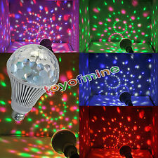 E27 3W 6W LED Rotating RGB Bulb Light Crystal Ball Stage DJ Disco Party Lamp