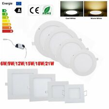6W 9W 12W 15W 18W 24W Dimmable LED Recessed Ceiling Panel Down Light Bulb Lamp
