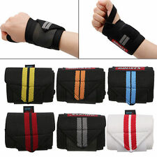 Bodybuilding Powerlifting Wrist Strap Crossfit Weight Lifting Wraps Support Hand