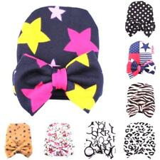 Cute Baby Boy Girl Infant Newborn Bowknot Hospital Beanie Cotton Cap Turban Hat