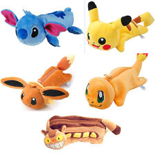 Anime Pokemon Pikachu Totoro Plush Pencil Case Pen Bag Plush Pouch Stationery