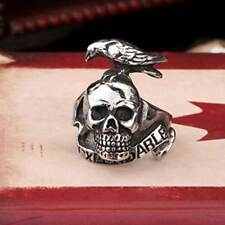 Mens Rings Stainless Steel The Expendables Skull Eagle Ring Gothic Biker Band
