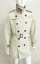 NEW MEN'S BURBERRY BRIT DOUBLE BREASTED RAIN PROOF TRENCH COAT POLO SHIRT JACKET