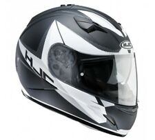 HJC TR1 Revolt Universal MC5F Motorcycle Helmet Black White Silver with