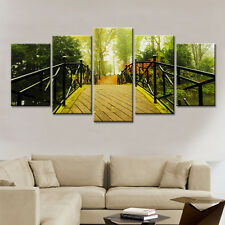 Home Decor  Canvas Painting  The Arch Bridge Landscape Wall Poster 5PC Unframed