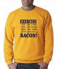 Long Sleeve T-shirt Unique Exercise Eggs Are Sides For Bacon Breakfast