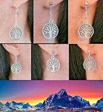 Lord of the Rings White Tree of Gondor Silver Earrings Clip-on Stud Fishhook