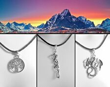 Lord of the Rings White Tree of Gondor Thong Necklace Middle-earth Dragon Smaug