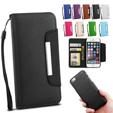 iPhone 8 / 7 Plus 6S 5S SE Magnetic Flip Leather Wallet Case Cover For Apple