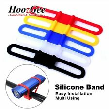 Silicone Elastic Strap Tie Band Holder For Bike Bicycle Light GPS PDA Cell Phone
