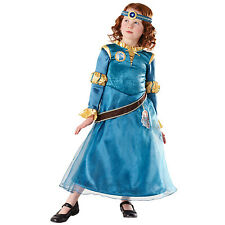 Childs Deluxe Disney Princess Merida Girls Fancy Dress Costume Outfit 881743
