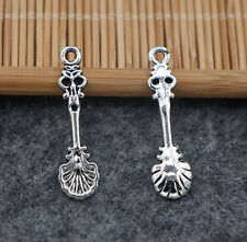 15/60pcs Tibetan Silver Scallop spoon Alloy Jewelry Charms Pendant 33x9mm