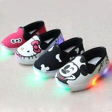 Hello Kitty Children Light Shoes For Girls Baby Sneakers Mickey LED Kids Shoes