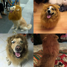 Funny Lion Mane Wig Funny Pet Dog Costume - Dog Turned Hat With Ears Brown