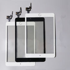 New For iPad Mini 3 Touch Screen Digitizer +  IC Chip Home Button black /white
