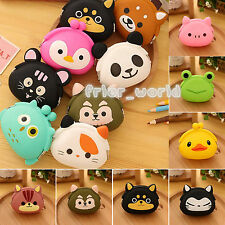 Cute Girls Candy Color Silicone Wallets Key Coin Purses Animal Rubber Pouch Case