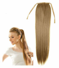 Virgin human Hair ponytail hair Extension Clip IN straight Human Extensions 80g