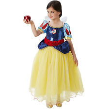 Childs Deluxe Premium Disney Princess Snow White Girls Fancy Dress Costume 62048