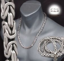 """7mm HEAVY BALI BYZANTINE 925 STERLING SILVER MENS NECKLACE KING CHAIN 22 24 26"""""""