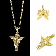 Angel Wings Wedding Little Angel Necklace Crystal Pendant Alloy Chain
