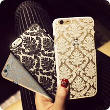 For iPhone 6S 7 Plus 5S SE 4S Ultra-thin Damask Protective Hard Back Case Cover