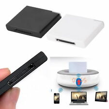 Bluetooth A2DP Music Receiver Adapter for iPod iPhone 30-Pin Dock Speaker @B