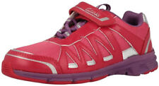 Clarks PASS SOLAR Girls Rose Pink LIGHTS Trainers Shoes 8 - 2.5 F & G Fit BNIB