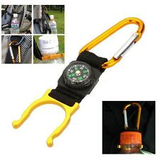 Convenient!Outdoor Hook Carabiner Compass Water Bottle Buckle Holder Clip C4R5