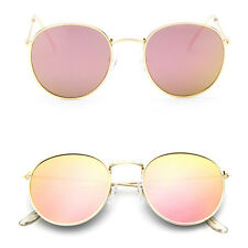 Fashion Men Women's Vintage Round Sunglasses Retro Oversized Mirror Glasses New
