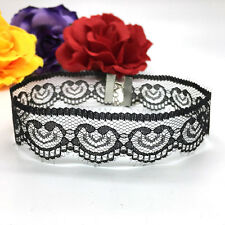 Gothic Lace Heart Crochet Vintage Choker Necklace Collar Retro Chain Jewelry New
