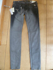REPLAY RODERIKA FUNKY WASHED GREY SKINNY STRETCH JEANS CHAIN DETAIL 25 WAIST 32
