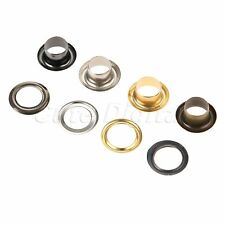 100Pcs 6mm DIY Leather Crafting Findings Through Nuts Hole Hollow Rivets Grommet